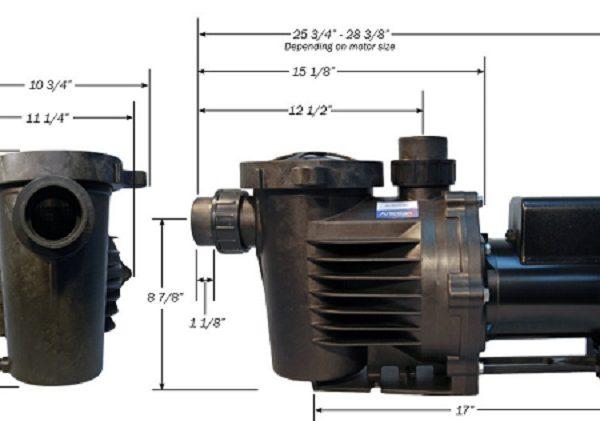 HKF Artesian 2 Pond Waterfall pump dimensions