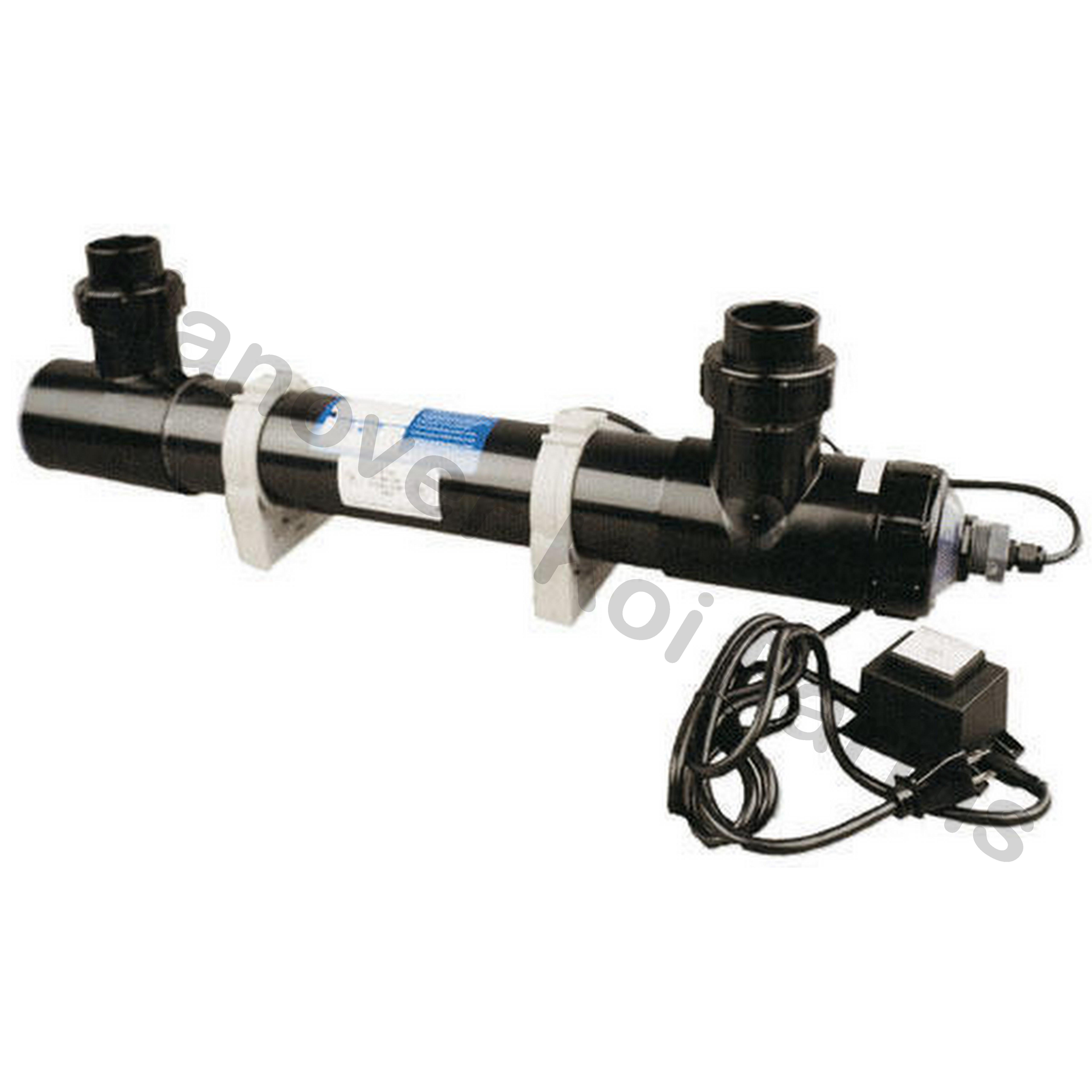 Pond uv light 25 watt emperor sterilizer series eu25 u for Uv light for koi pond