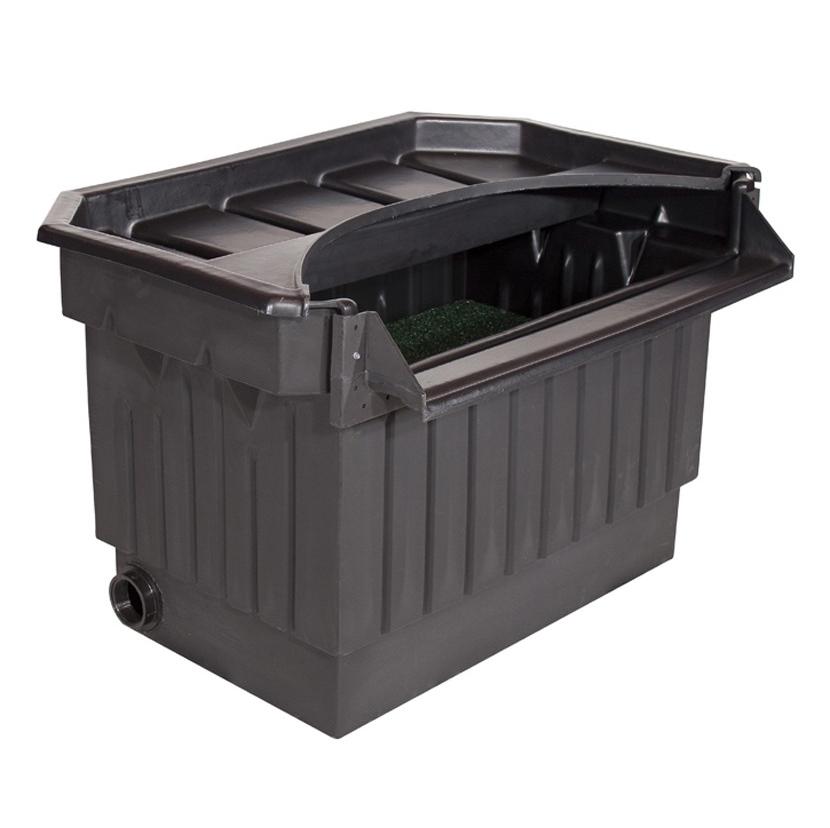 Koi pond waterfall box 40 pondbuilder elite biological for Pond pump filter box